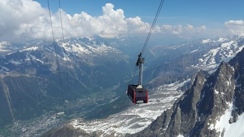 teleférico para Mont Blanc