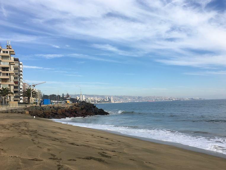 Praia de Vinã del Mar, nos arredores de Santiago