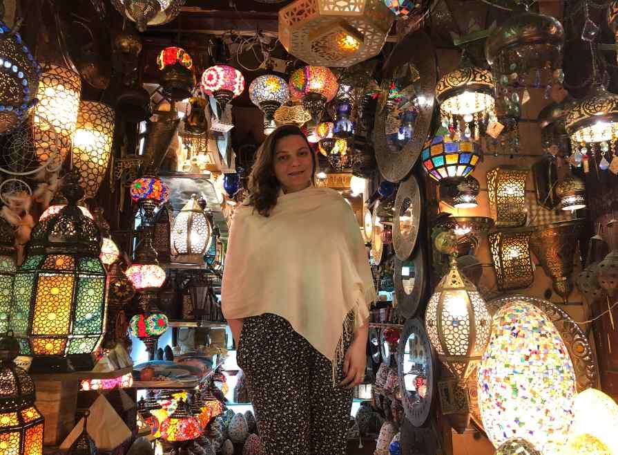 Loja de Luminárias no Egito