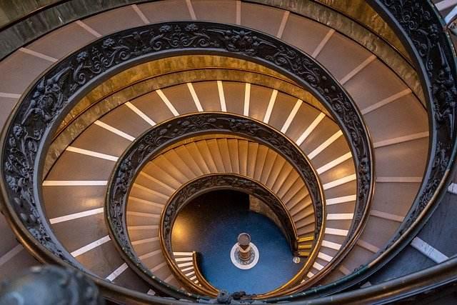 Escadaria do Museu do Vaticano