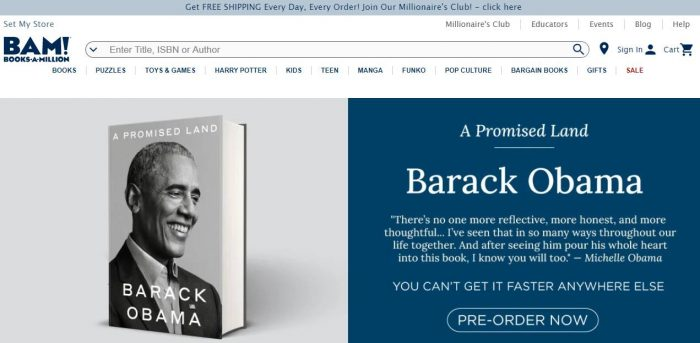 Site do Books-a-Million