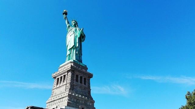 Estátua da Liberdade vista da Ilha