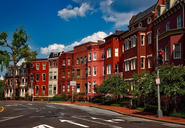 Arquitetura tradicional de prédios de Washington D.C.