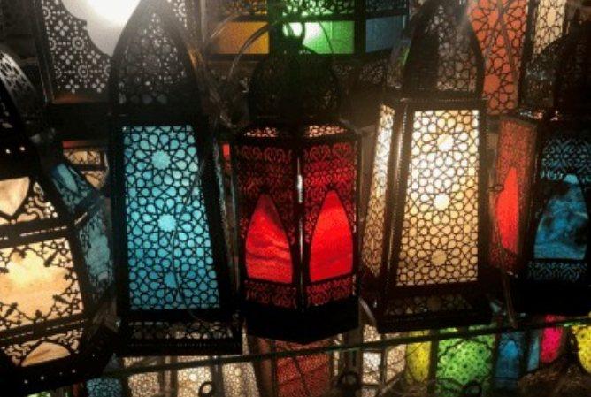 Luminárias egipcias