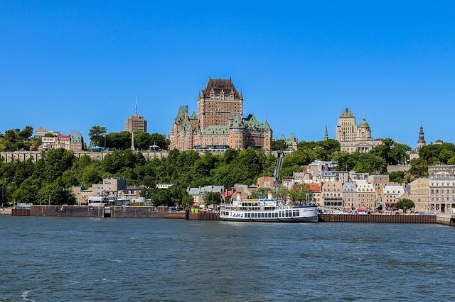 Quebec vista do Rio São Lourenço
