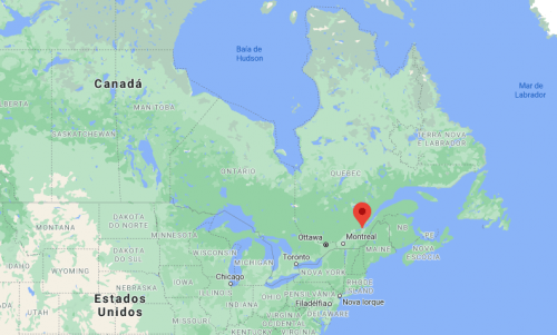 Quebec no mapa