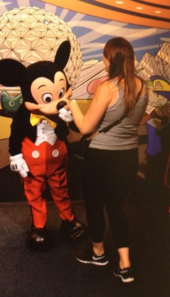 Foto com o Mickey