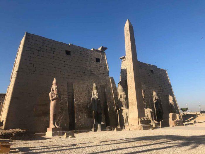 foto do templo de Luxor