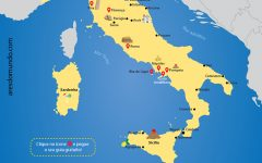 Mapa da Itália com 15 guias gratuitos de cidades