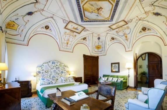 Onde se hospedar na Costa Amalfitana: Quarto do Villa Cimbrone