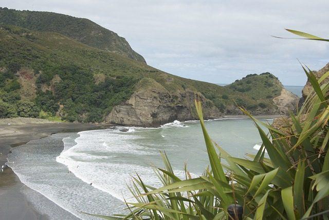 Vista da praia de Piha
