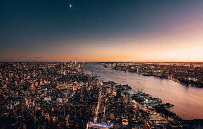 Vista Noturna do The Edge, em Nova York