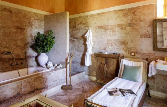 Banheiro do Castello Di Vicarello