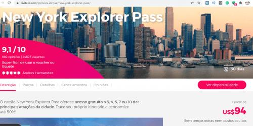 onde comprar New York Explorer Pass