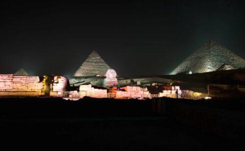Show de Luzes nas Pirâmides de Gizé e Grande Esfinge