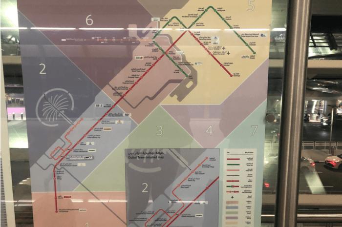 Mapa metrô Dubai